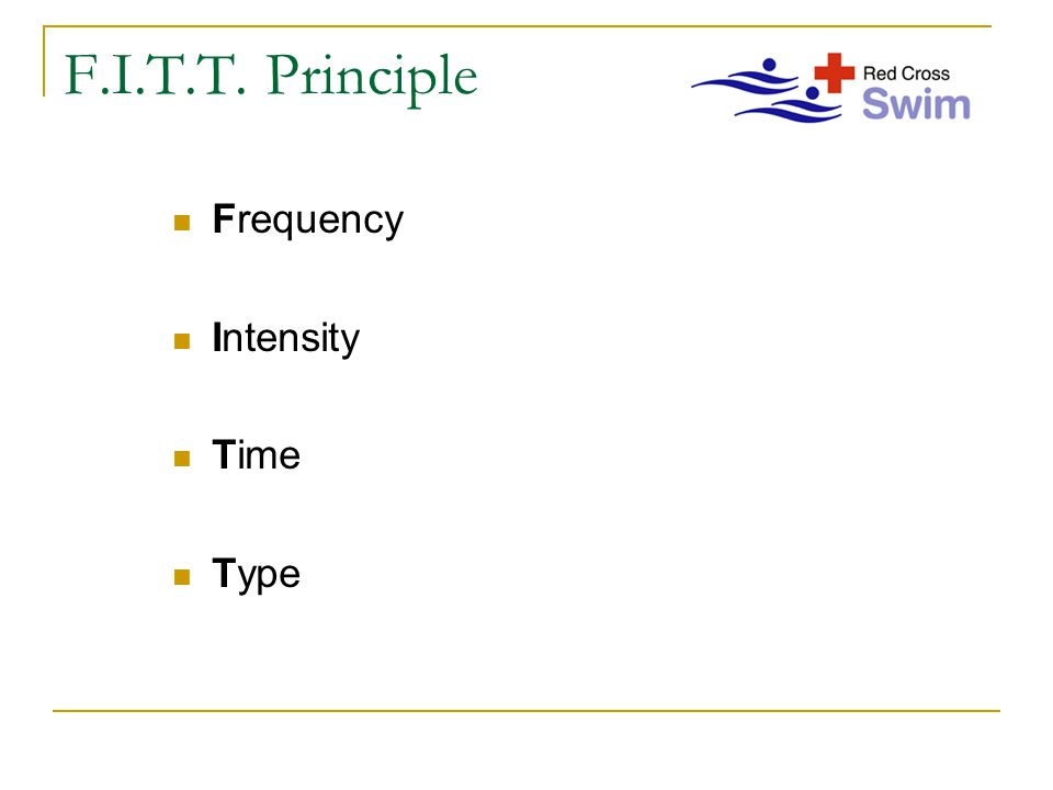F.I.T.T. Principle Frequency Intensity Time Type