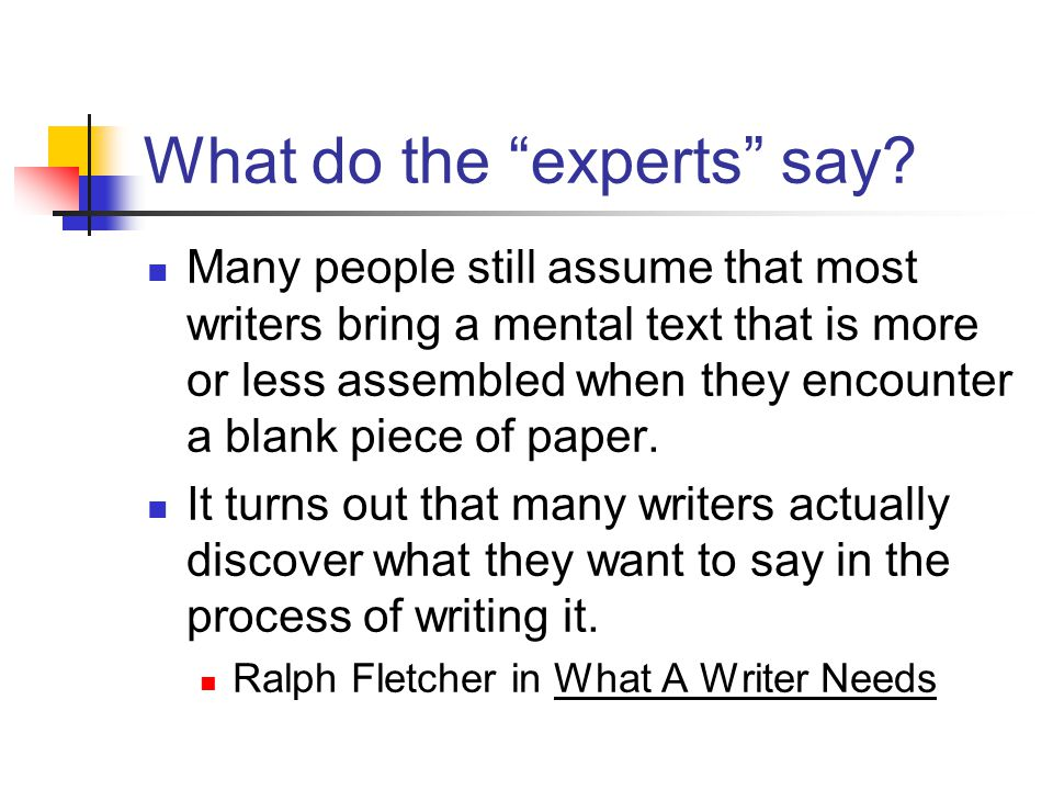 What do the experts say.