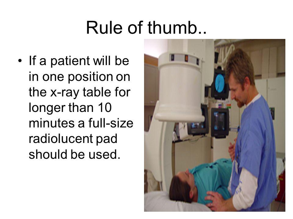 Rule of thumb..