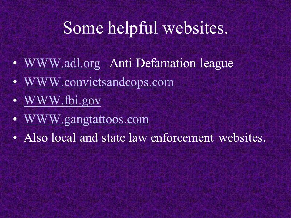 Some helpful websites.