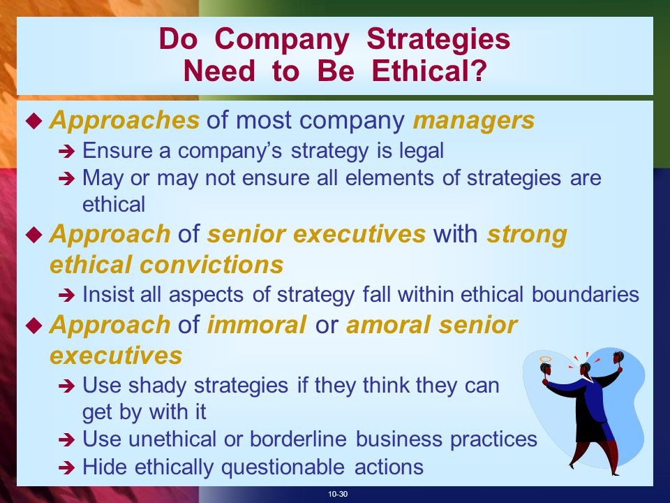 10-30 Do Company Strategies Need to Be Ethical.