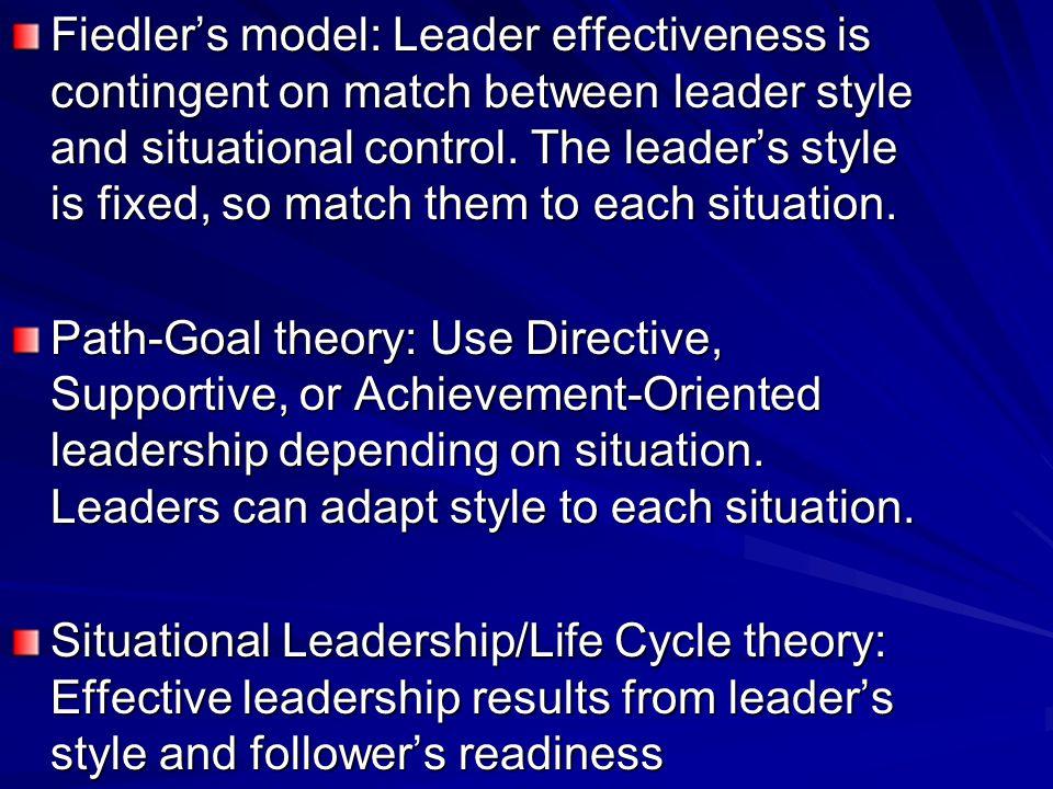 III. Contingency theories