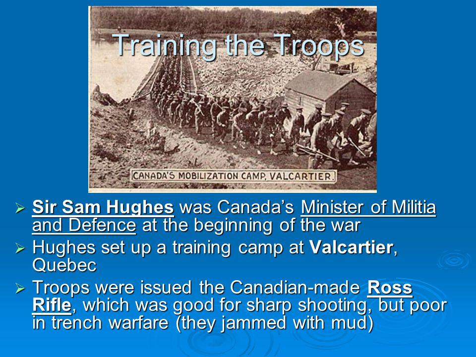 Volunteers or Amateurs. The majority of Canada's volunteer military had no real training.