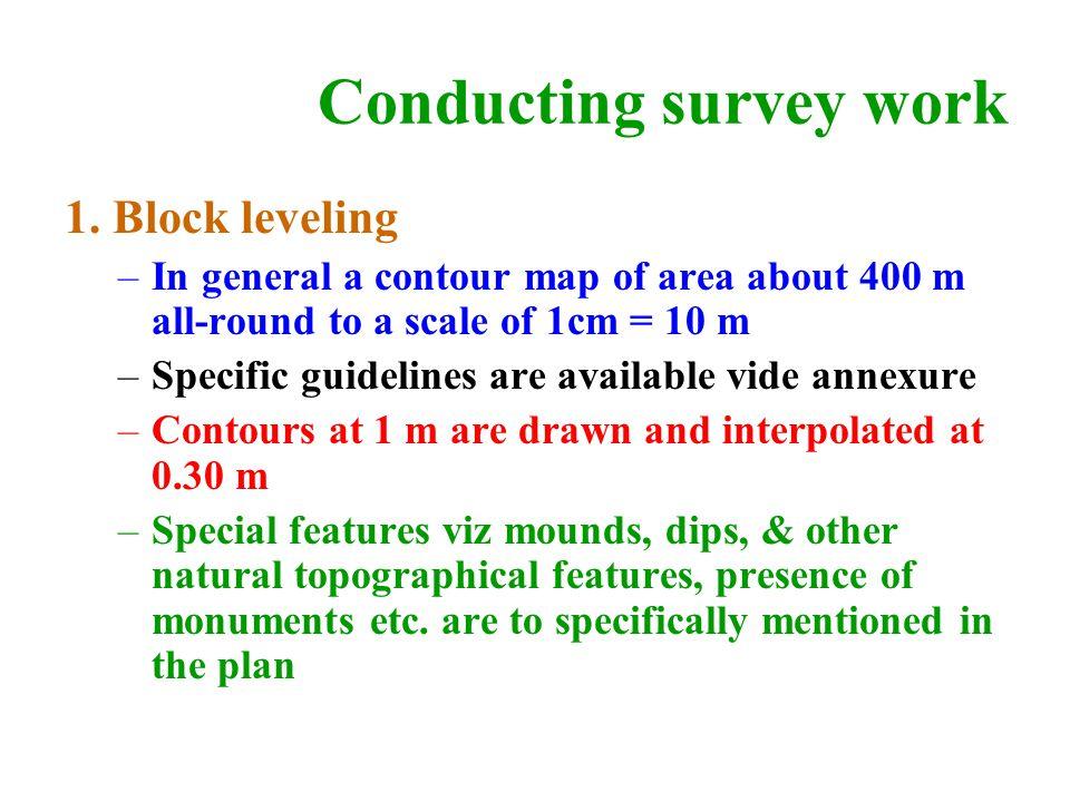 Conducting survey work 1.