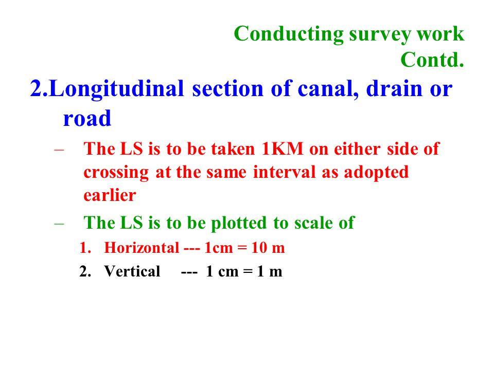 Conducting survey work Contd.