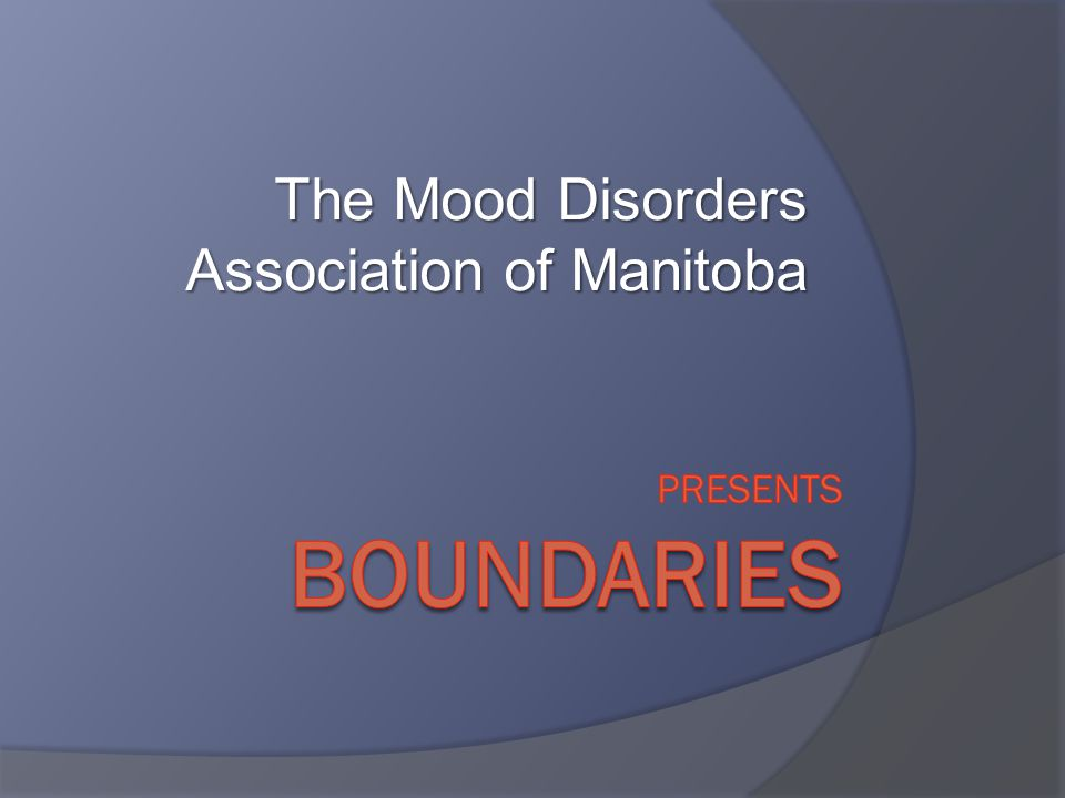 The Mood Disorders Association of Manitoba