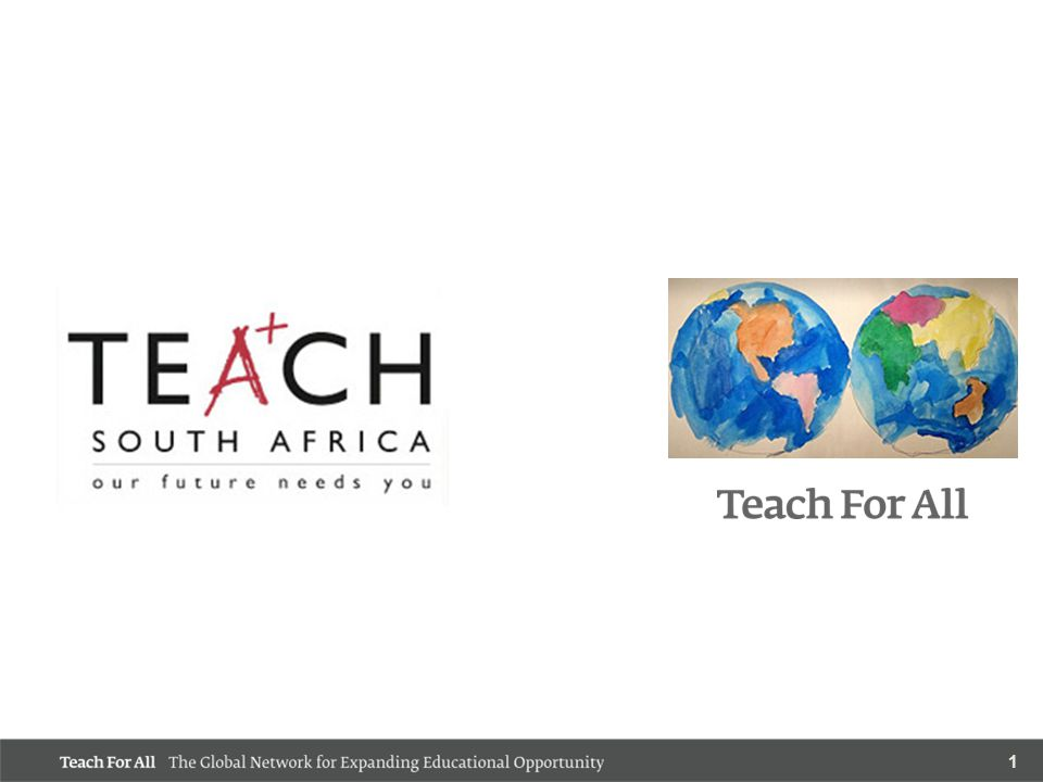 12 Priority 5: Ensure the Institutional Sustainability of TEACH South Africa TEACH SA has developed successful funding and placement relationships throughout the country.