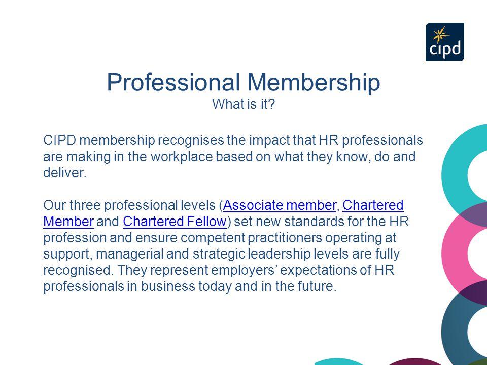 Three levels of professional membership