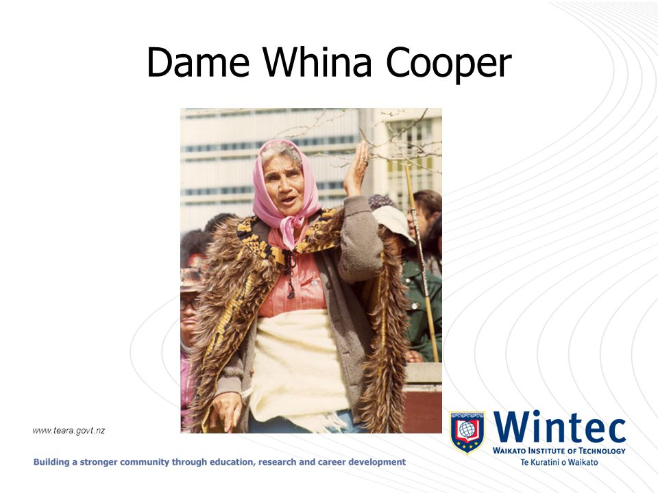 Dame Whina Cooper www.teara.govt.nz