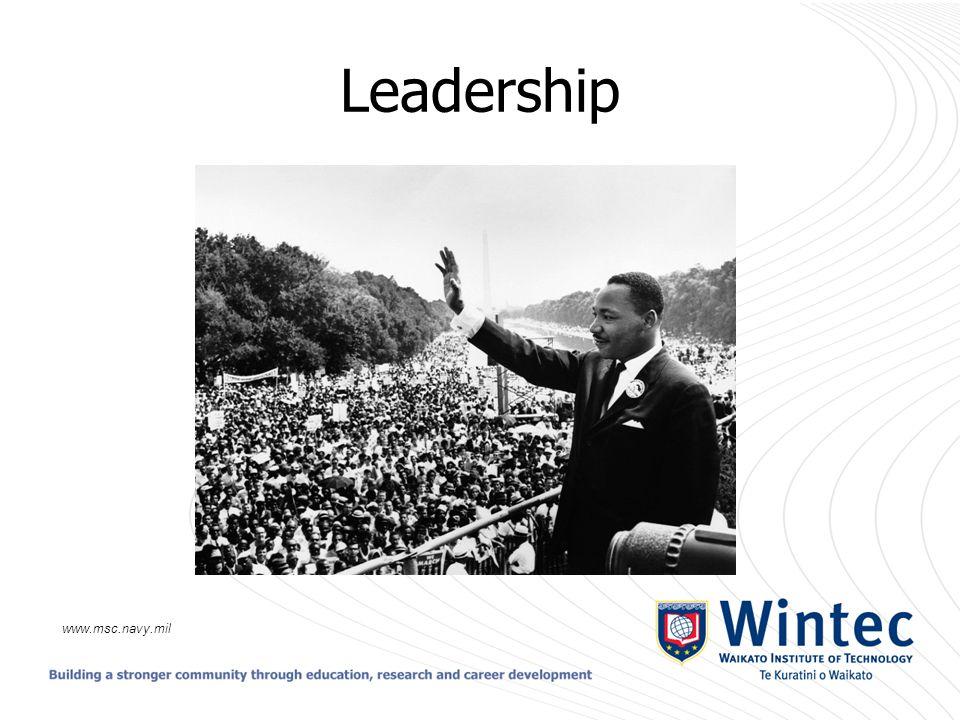 Leadership www.msc.navy.mil