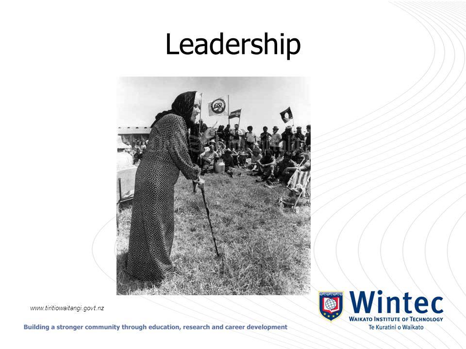 Leadership www.tiritiowaitangi.govt.nz