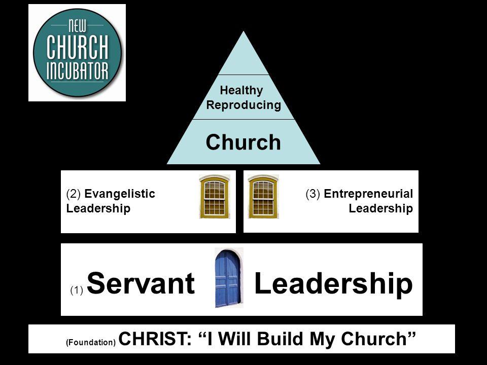 11 (Foundation) CHRIST: I Will Build My Church (1) Servant Leadership (2) Evangelistic Leadership (3) Entrepreneurial Leadership Healthy Reproducing Church
