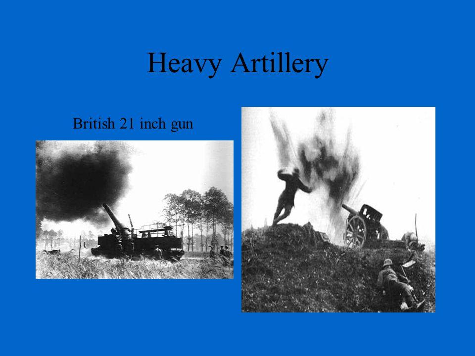 Heavy Artillery British 21 inch gun