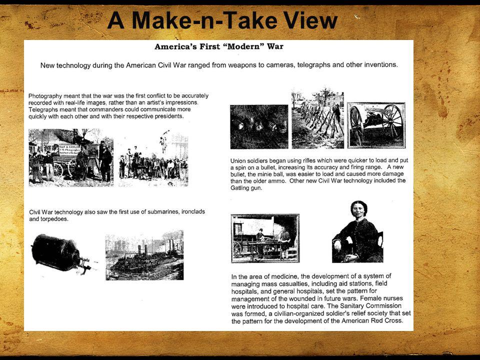 A Make-n-Take View
