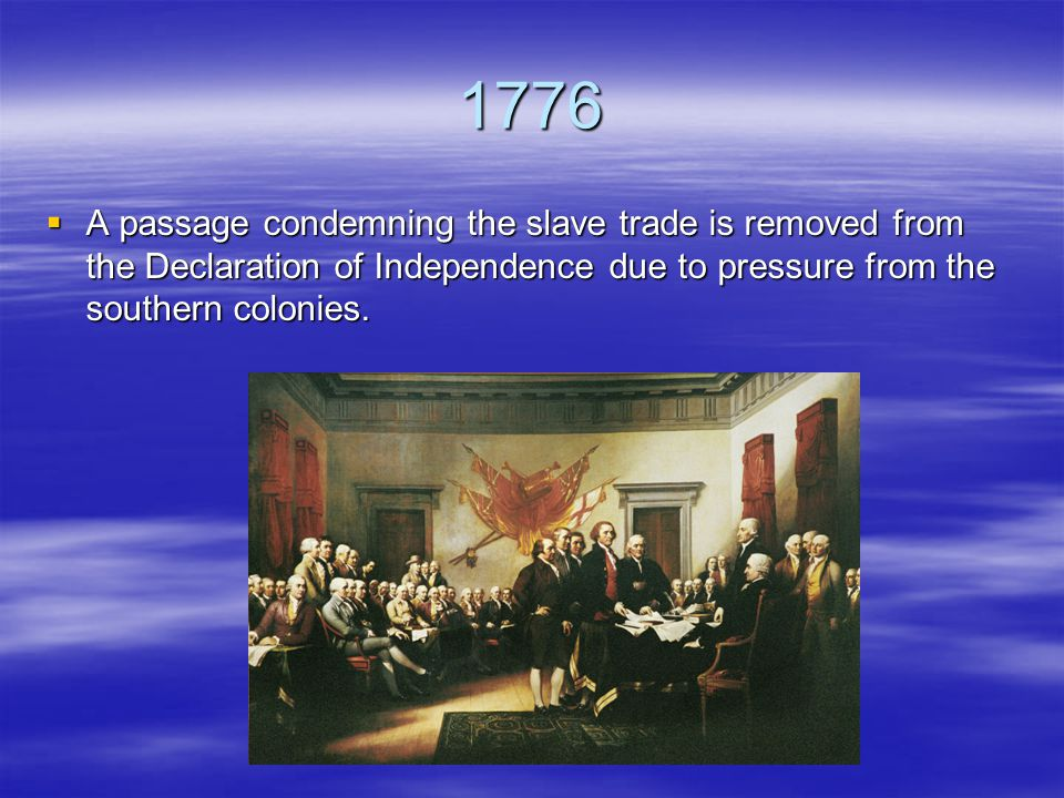1787  The U.S.Constitution is ratified.