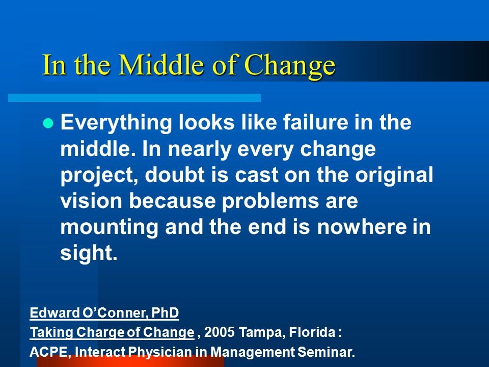 Rate of Change It takes 5 years to change someone's mind…… Or to allow yours to change Tom Gilmore Center for Applied Research The Wharton School