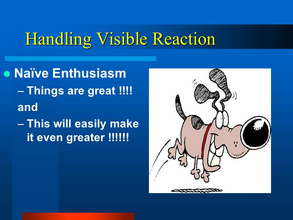 Handling Visible Resistance The Hopeless Group –Obtain needed information –Acknowledge their reality –Paint a picture of the future –Demonstrate commitment