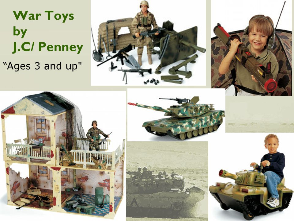 War Toys by J.C/ Penney Ages 3 and up
