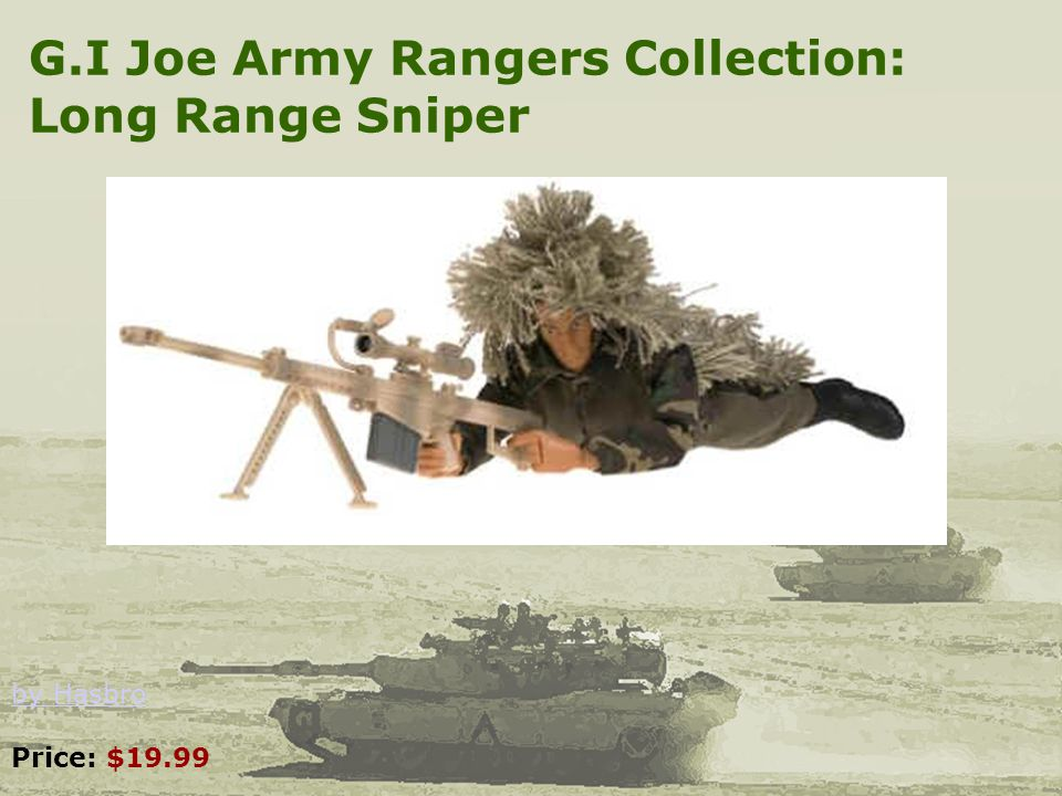 G.I Joe Army Rangers Collection: Long Range Sniper by Hasbro by Hasbro Price: $19.99