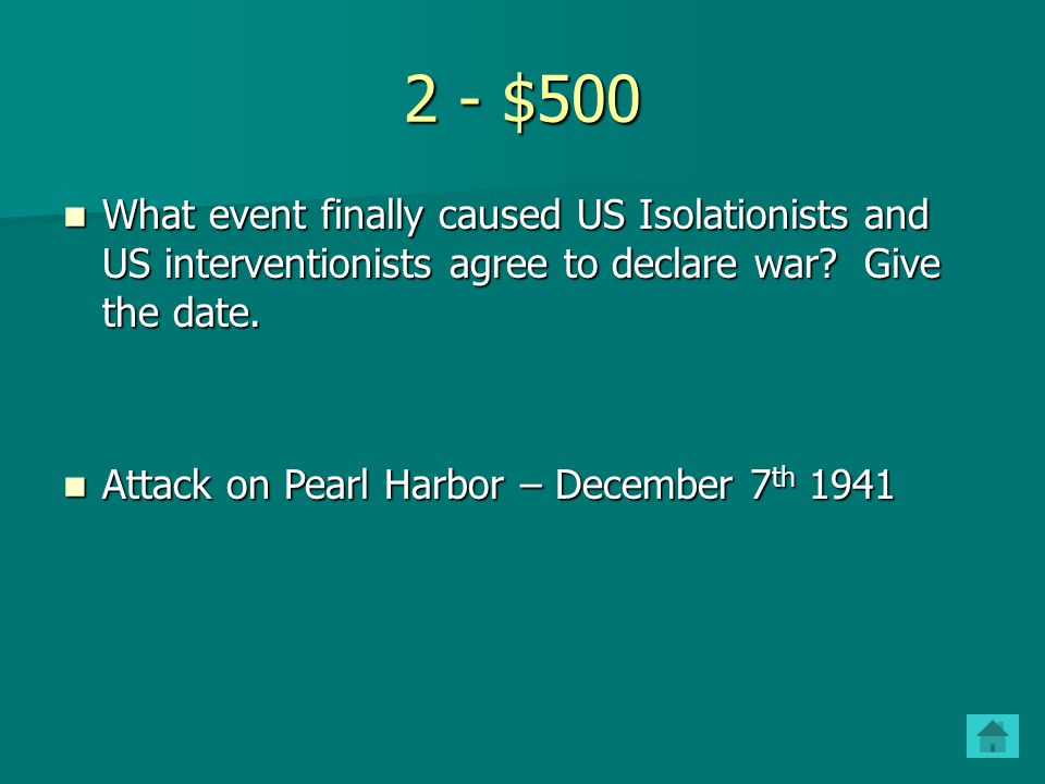 2 - $400 Explain the Lend-Lease Act.Why did the U.S.