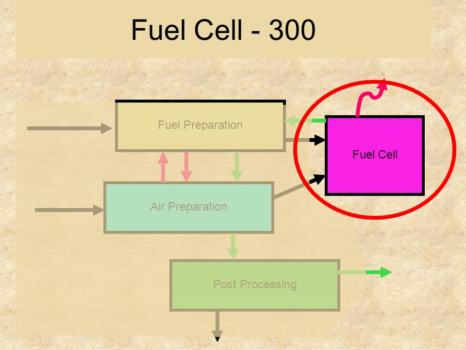 Fuel Preparation Air Preparation Post Processing Fuel Cell Fuel Cell - 300