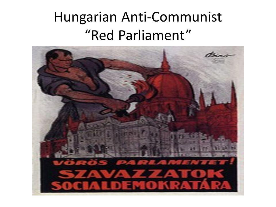 "Hungarian Anti-Communist ""Red Parliament"""