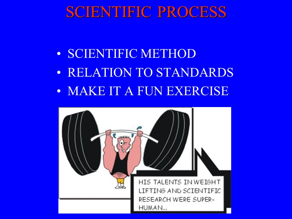 SCIENTIFIC PROCESS SCIENTIFIC METHOD RELATION TO STANDARDS MAKE IT A FUN EXERCISE