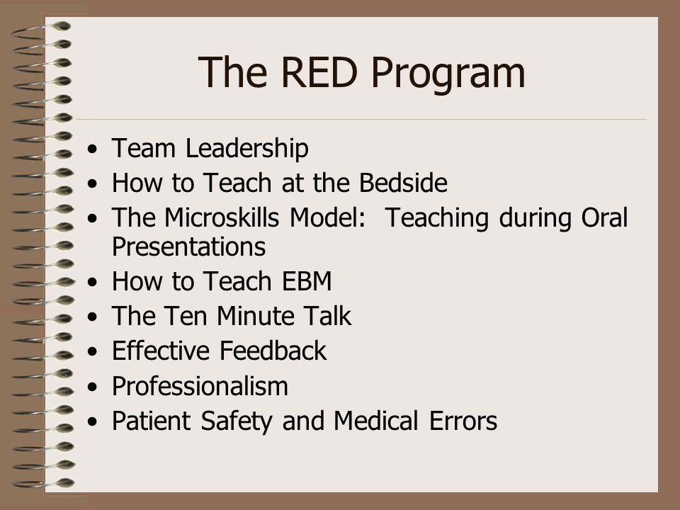 Team Leadership Resident Educator Development (RED) Program
