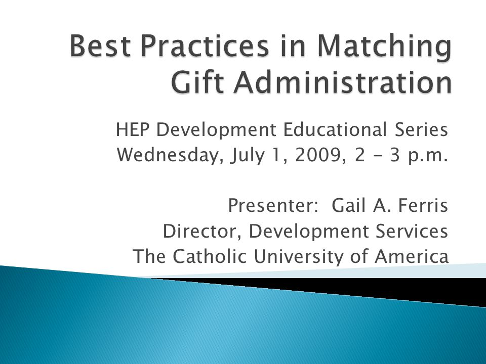 HEP Development Educational Series Wednesday, July 1, 2009, 2 - 3 p.m.