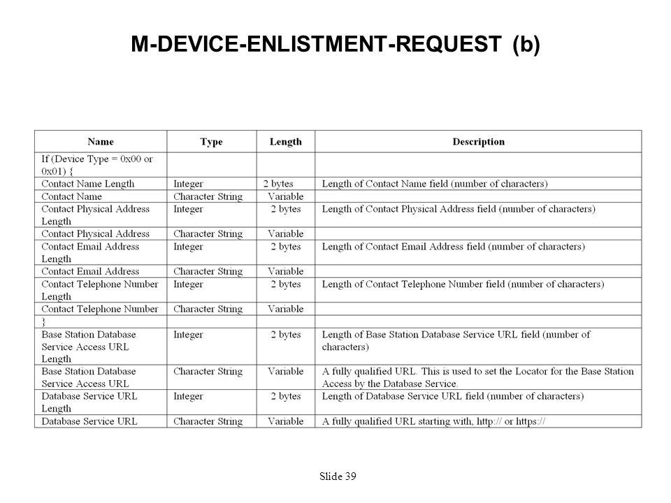 Slide 39 M-DEVICE-ENLISTMENT-REQUEST (b)