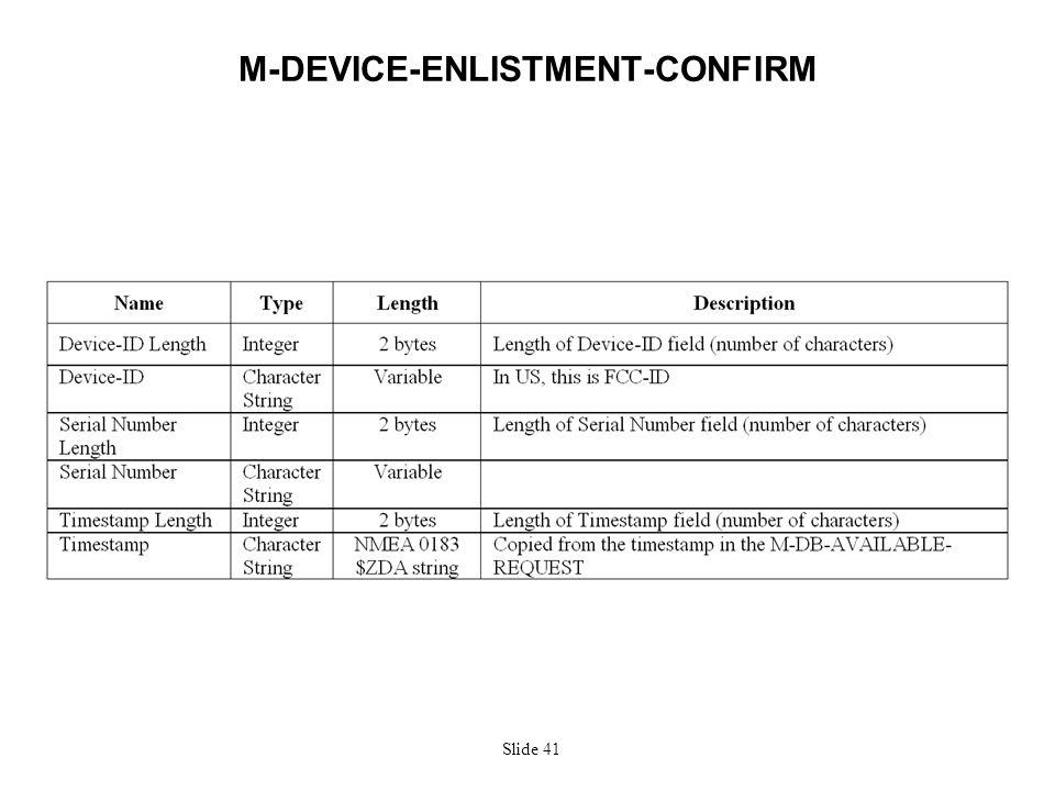 Slide 41 M-DEVICE-ENLISTMENT-CONFIRM