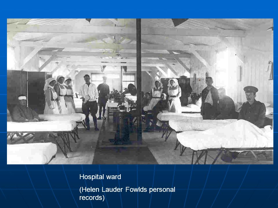 Hospital ward (Helen Lauder Fowlds personal records)