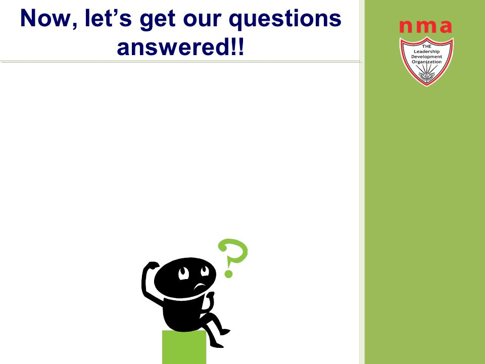Now, let's get our questions answered!!