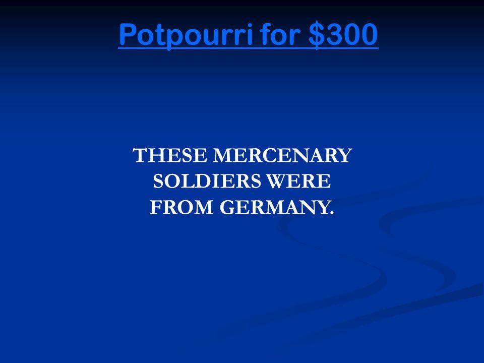 Potpourri for $200 Back to Game Joseph Plumb Martin