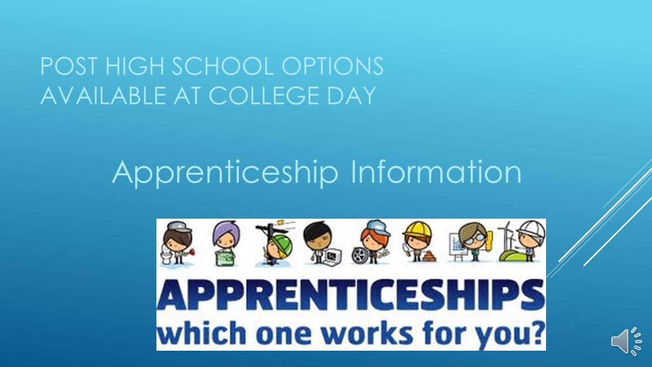 POST HIGH SCHOOL OPTIONS AVAILABLE AT COLLEGE DAY Apprenticeship Information