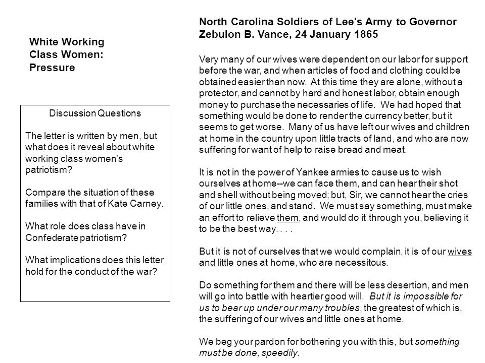 North Carolina Soldiers of Lee s Army to Governor Zebulon B.
