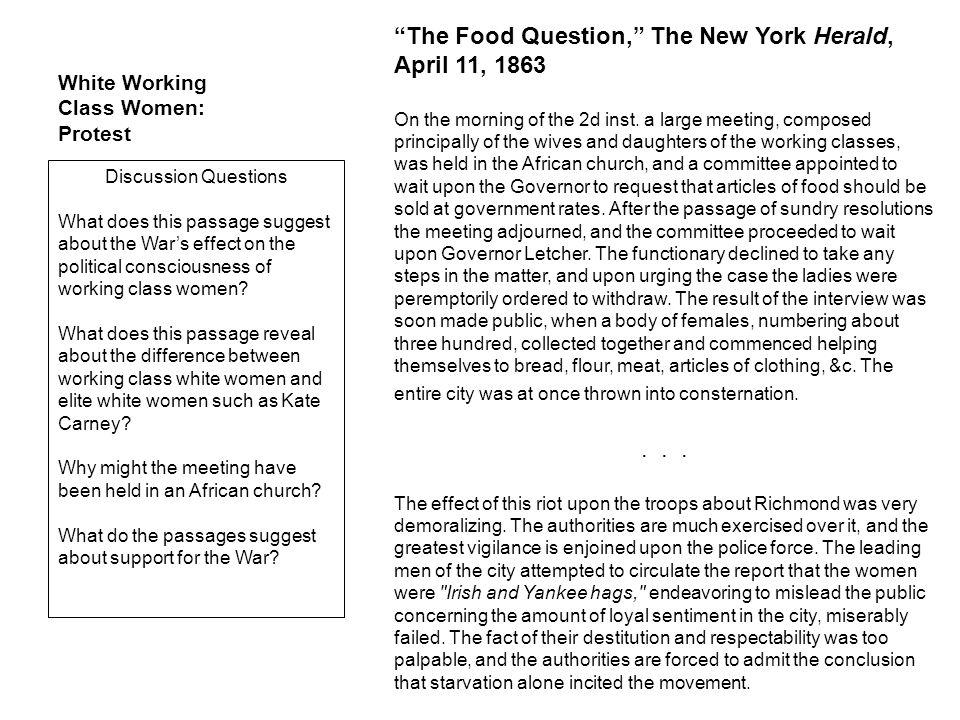 The Food Question, The New York Herald, April 11, 1863 On the morning of the 2d inst.