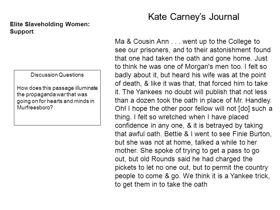 Kate Carney's Journal Ma & Cousin Ann...
