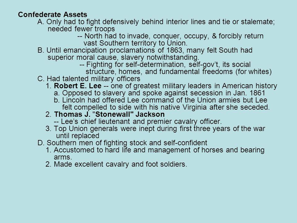 Confederate chances A.
