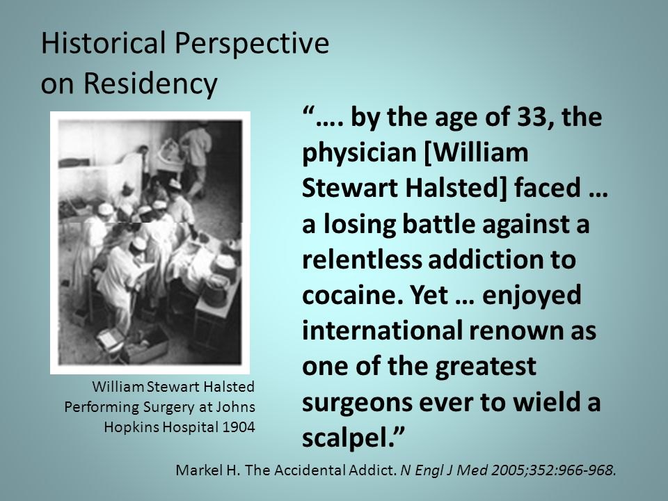 Historical Perspective on Residency ….