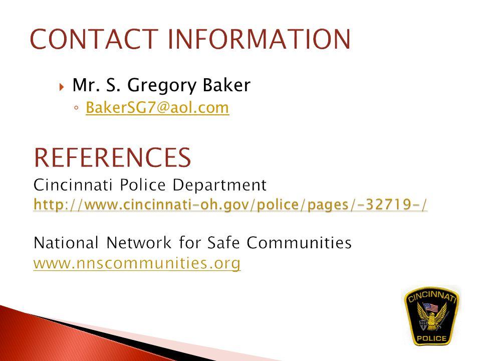  Mr. S. Gregory Baker ◦ BakerSG7@aol.com BakerSG7@aol.com
