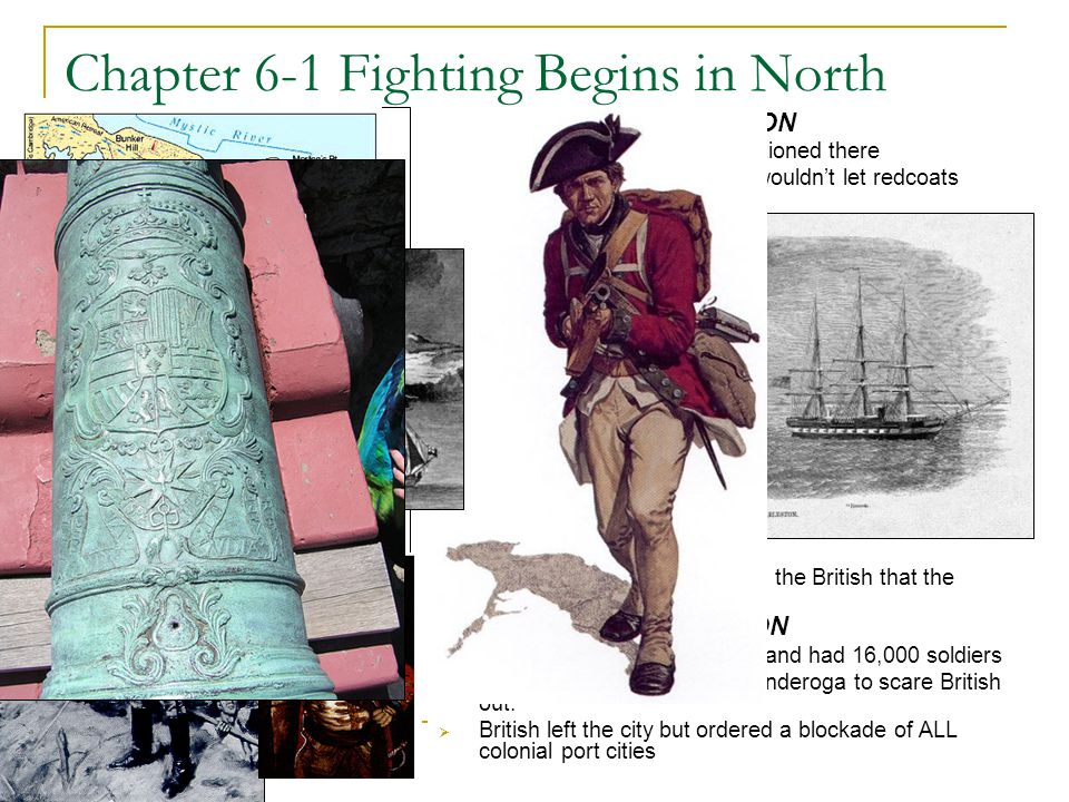 4 Chapter 6-1 Fighting Begins in North Blockade – Shutting a port to keep people and supplies from moving in or out.