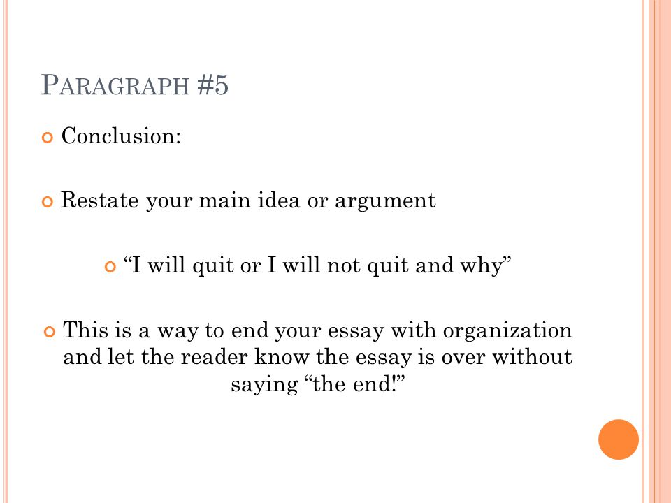Great ways to end an essay