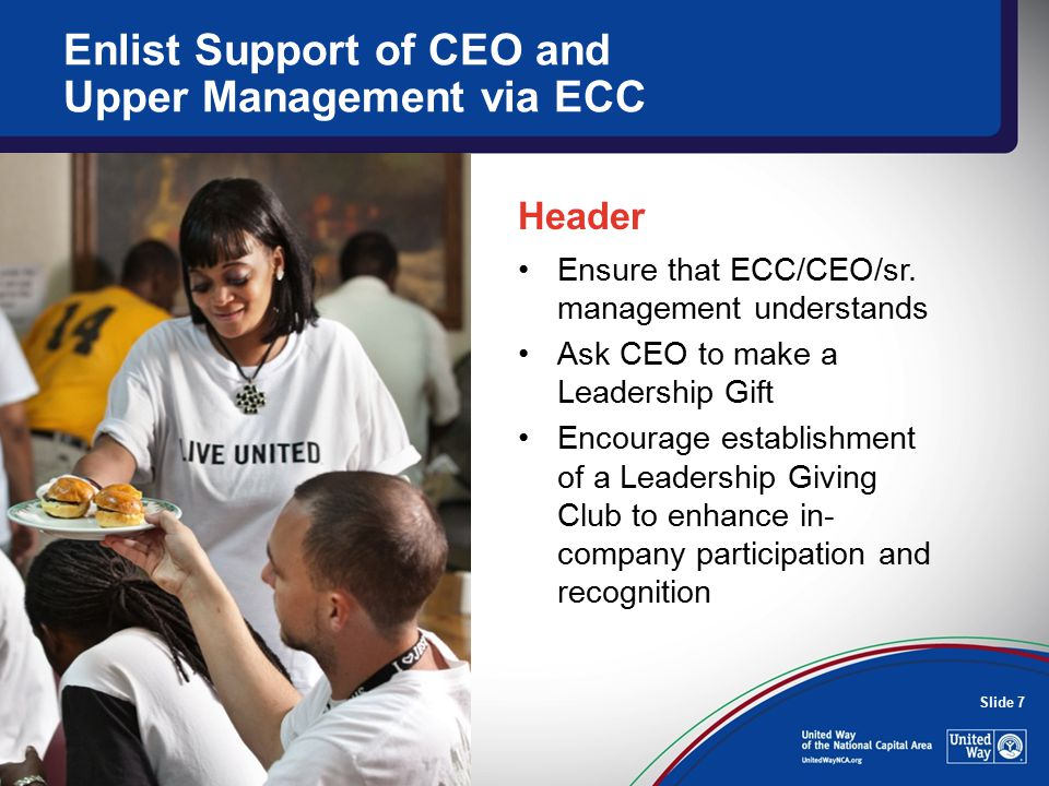 Slide 7 Ensure that ECC/CEO/sr.