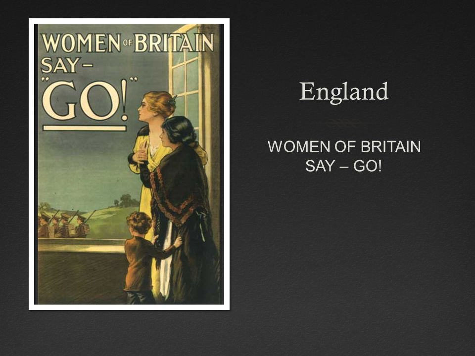 England WOMEN OF BRITAIN SAY – GO!
