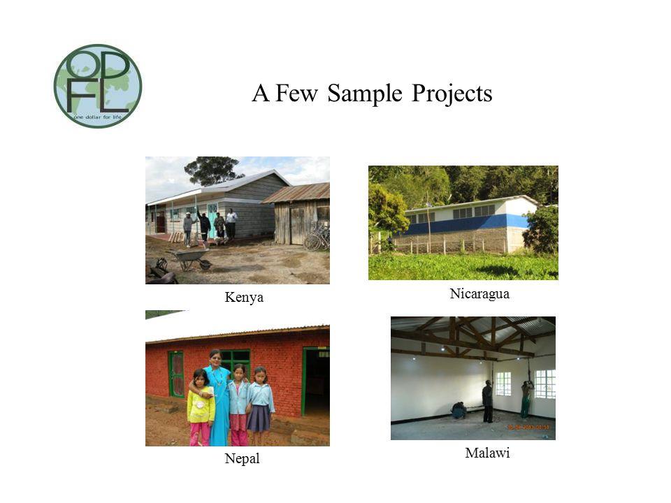 A Few Sample Projects Kenya Nicaragua Nepal Malawi