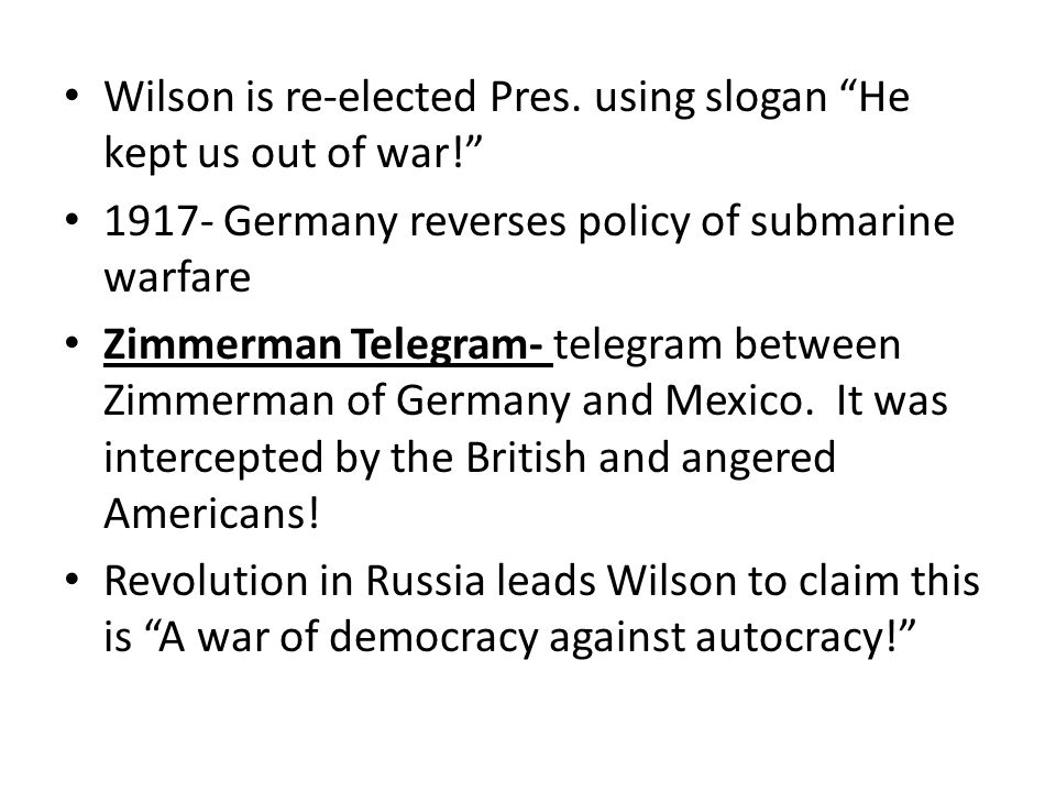 Wilson is re-elected Pres.