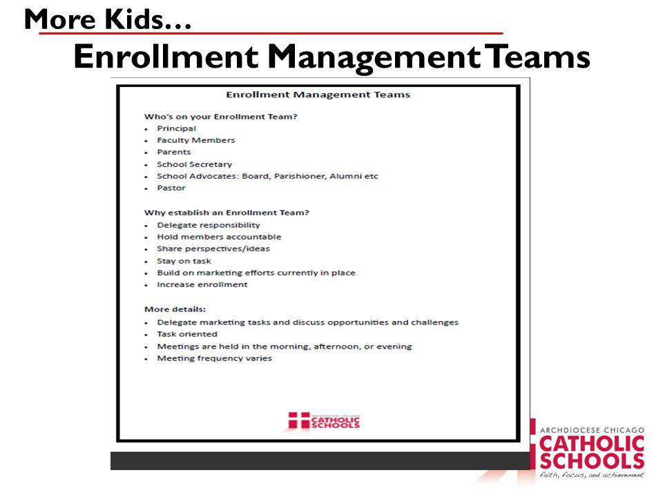 Enrollment Management Teams More Kids…