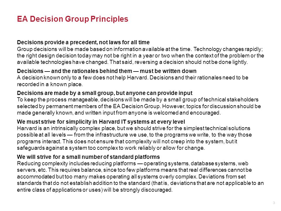 EA Decision Group Publishing: Organize to the EA Model 4