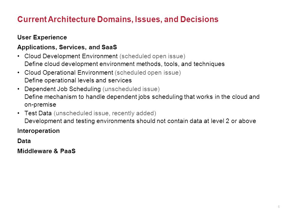 Infrastructure and IaaS Virtual Private Clouds (decided Jan.